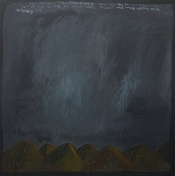 Drizzly. 2011 Acrylic on Board. Courtesy of the artist