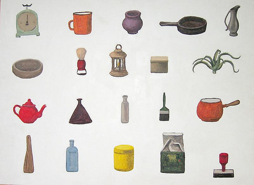 20 Objects. Oil painting. Courtesy of the artist