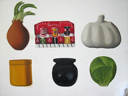 6 Objects. Oil painting. Courtesy of the artist