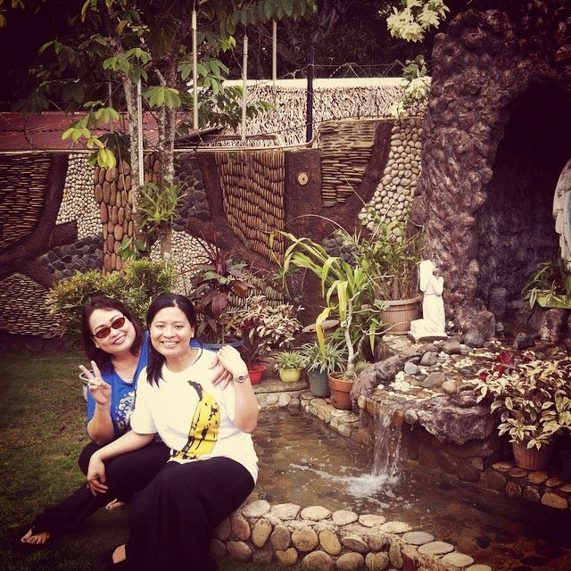 In front of lola's grotto