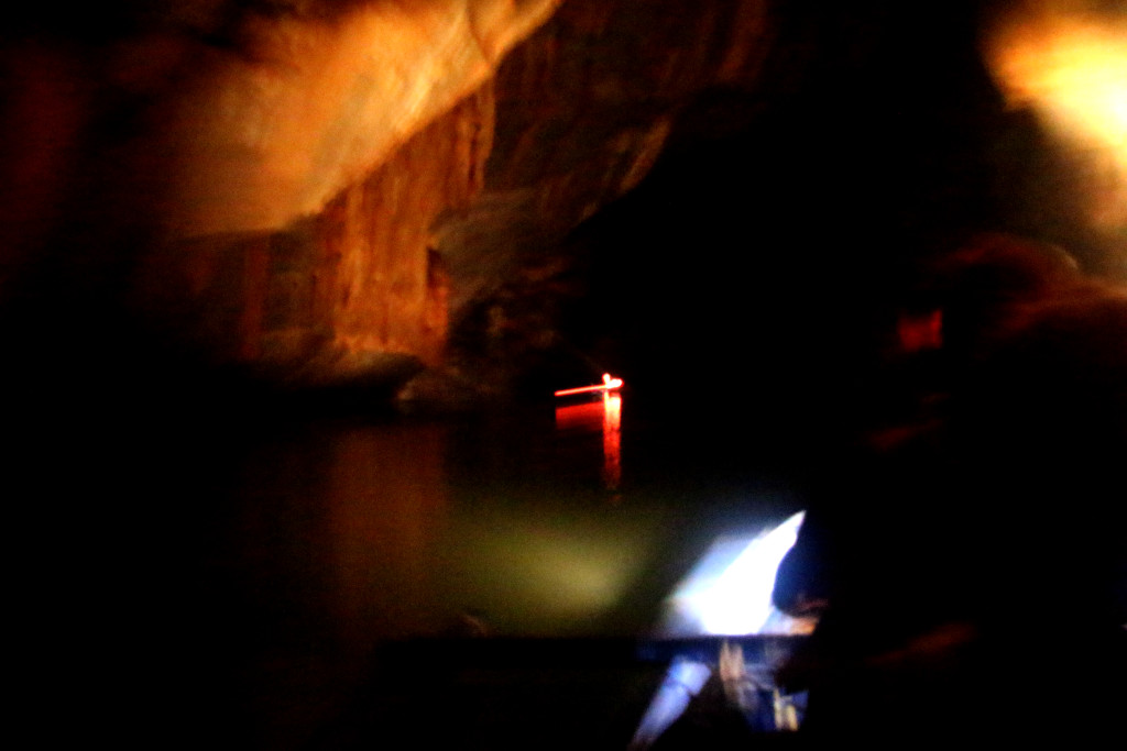 Inside the subterranean river.