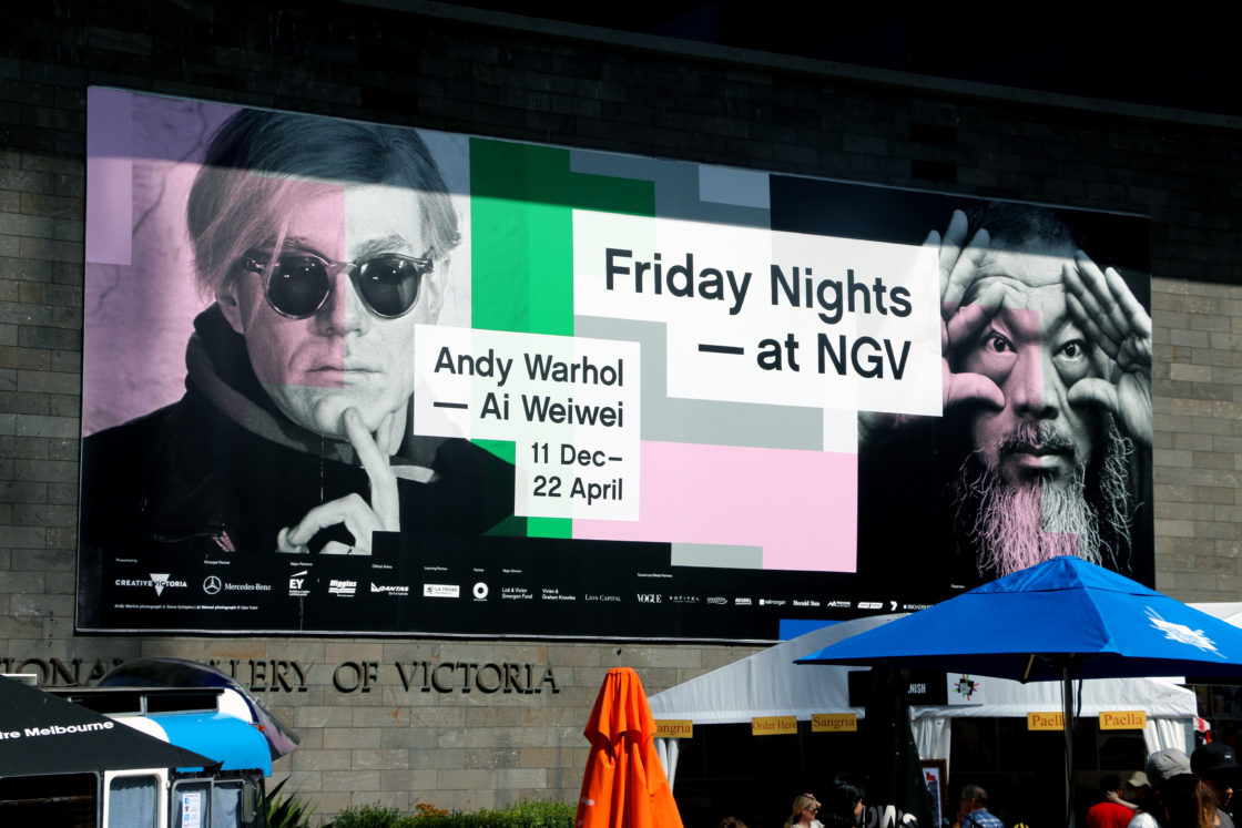 Andy Warhol & Ai Wei Wei. National Gallery of Victoria